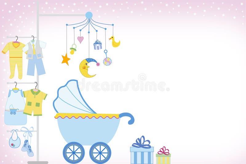 De jongensdouche van de baby stock illustratie