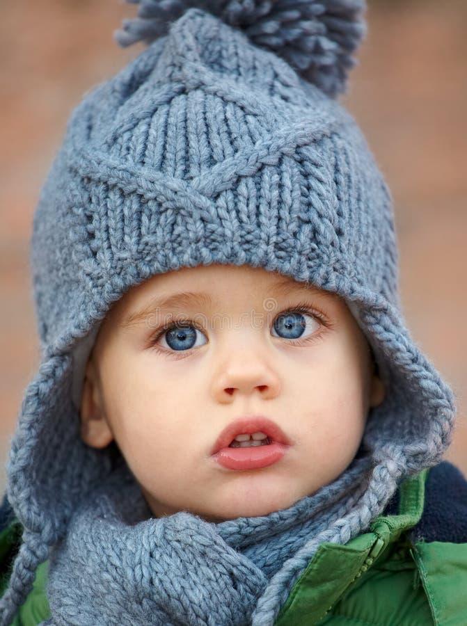 De jongensportret van de baby stock foto's