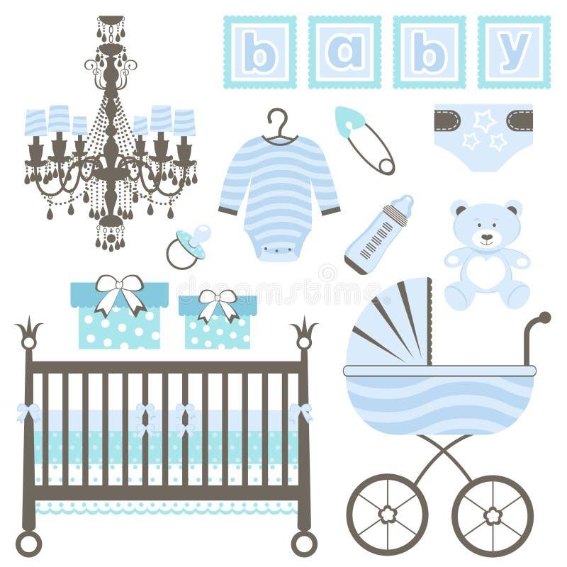 De jongensreeks van de baby vector illustratie