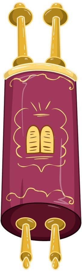 De Joodse Gouden Gesloten Heilige Bijbel van Torah vector illustratie