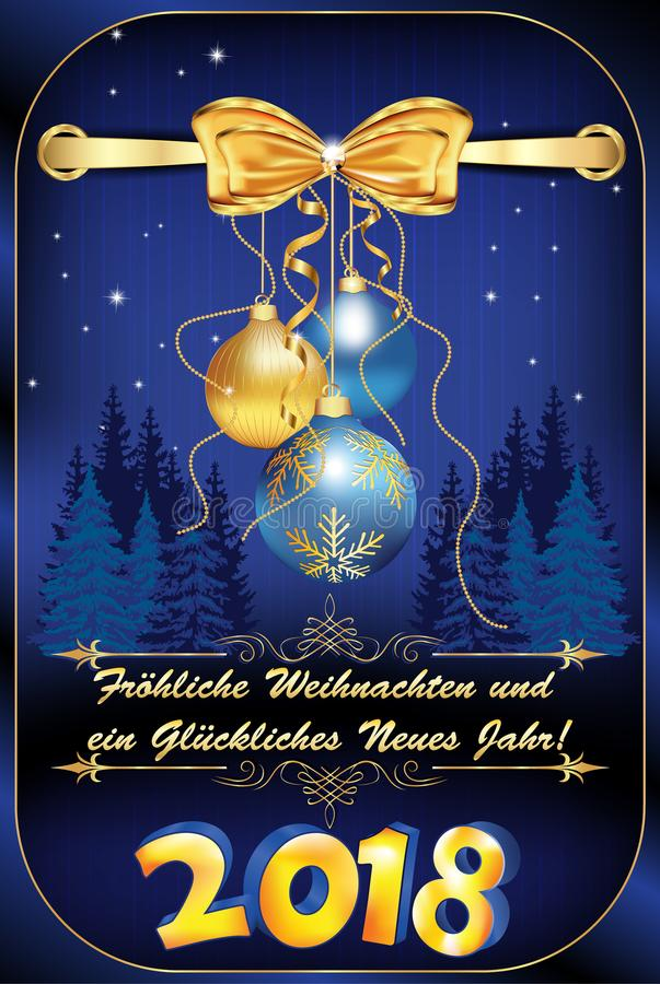 Populaire De Joyeux Noël Et De Bonne Année De ` Allemand De Carte De Voeux  JI03