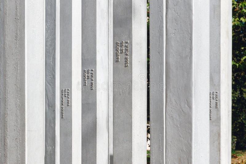 7 de julho memorial em Hyde Park fotografia de stock
