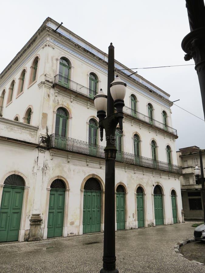 22 de julho de 2018, Santos, São Paulo, Brasil, centro histórico, museu de Pelé, em Casarão Valongo fotografia de stock