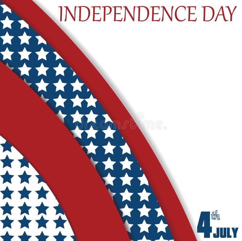 4 de julio fondo del Día de la Independencia cartel ilustración del vector