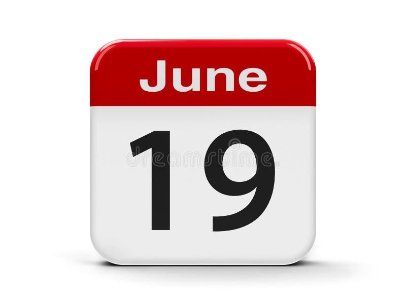 19 de junho calend?rio ilustração do vetor