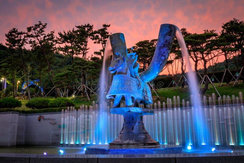 21 de junho de 2017 o parque temático de Gaya em Gimhae, Gyeongsangnam-faz, para o sul fotografia de stock royalty free
