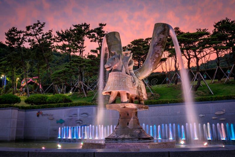 21 de junho de 2017 o parque temático de Gaya em Gimhae, Gyeongsangnam-faz, para o sul foto de stock royalty free