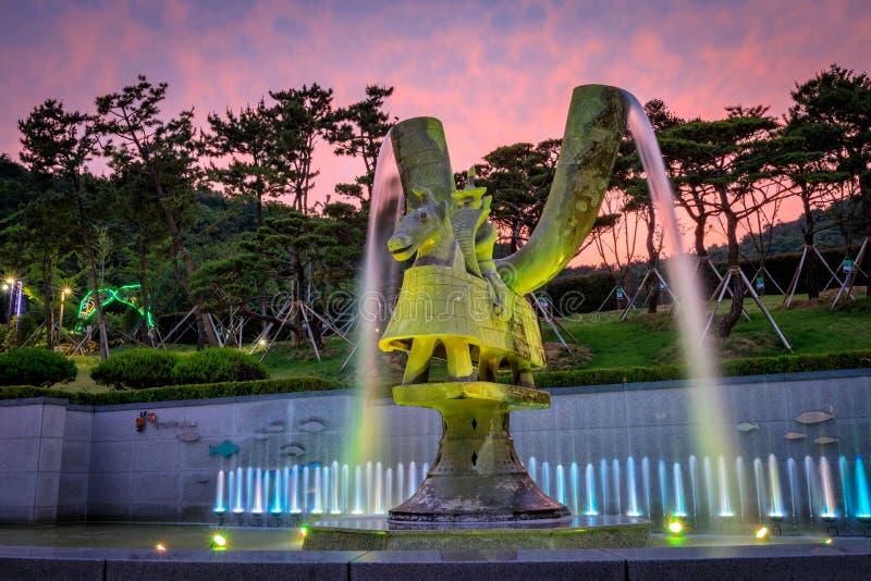 21 de junho de 2017 o parque temático de Gaya em Gimhae, Gyeongsangnam-faz, para o sul imagem de stock