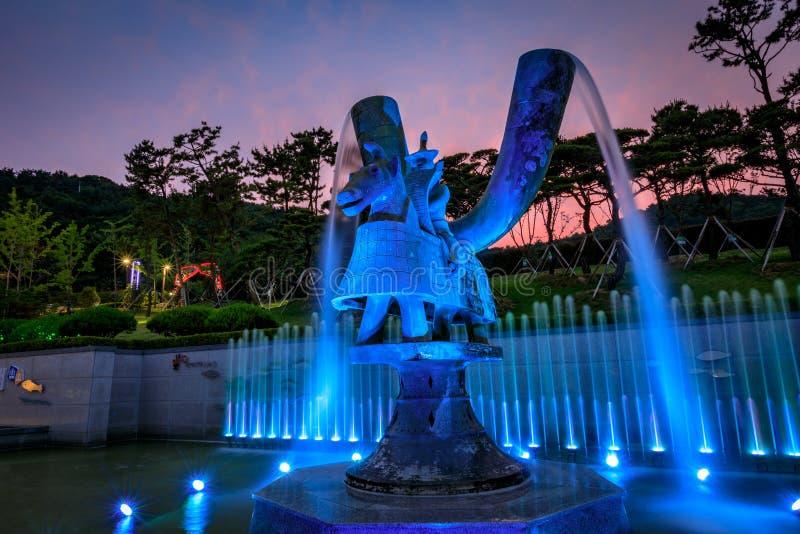 21 de junho de 2017 o parque temático de Gaya em Gimhae, Gyeongsangnam-faz, para o sul imagens de stock royalty free