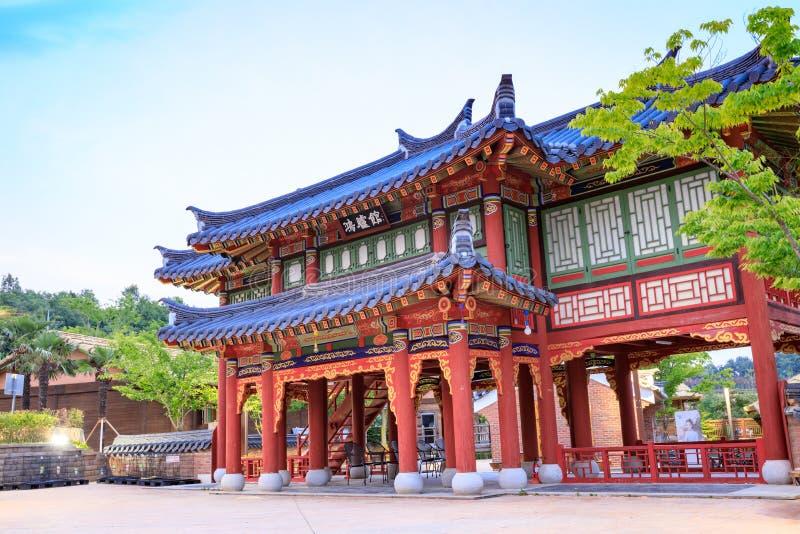 21 de junho de 2017 o parque temático de Gaya em Gimhae, Gyeongsangnam-faz, para o sul imagens de stock