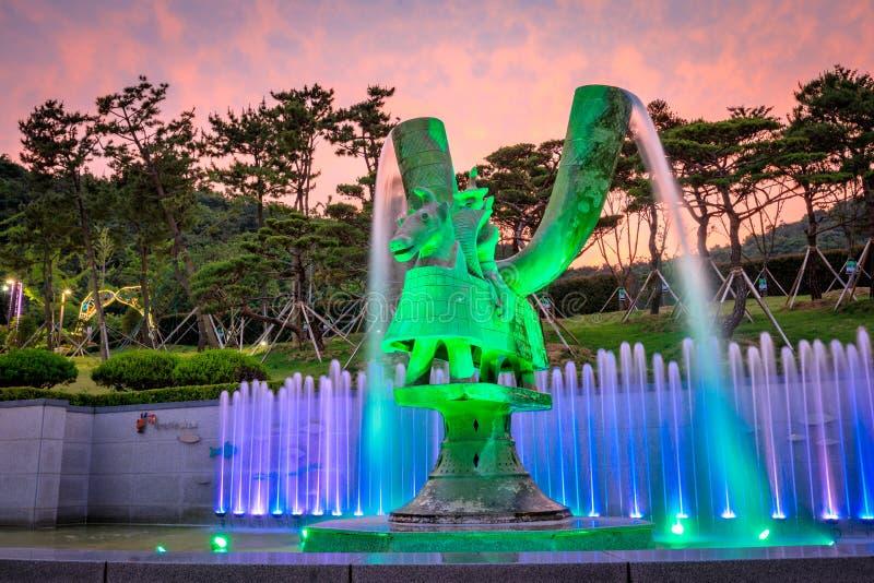 21 de junho de 2017 o parque temático de Gaya em Gimhae, Gyeongsangnam-faz, para o sul imagem de stock royalty free