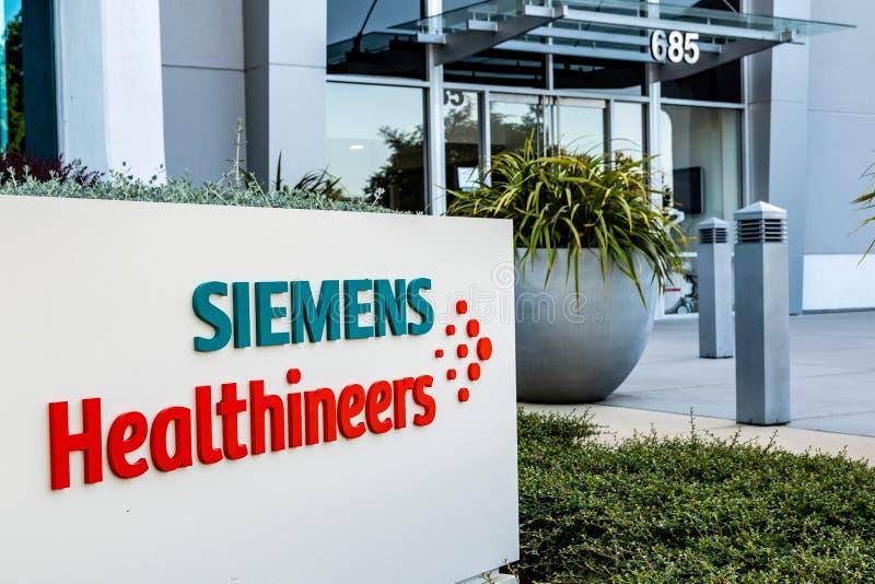 22 de junho de 2019 Mountain View/CA/EUA - cuidados médicos Healthineers AG anteriormente Siemens de Siemens, soluções médicas de imagens de stock