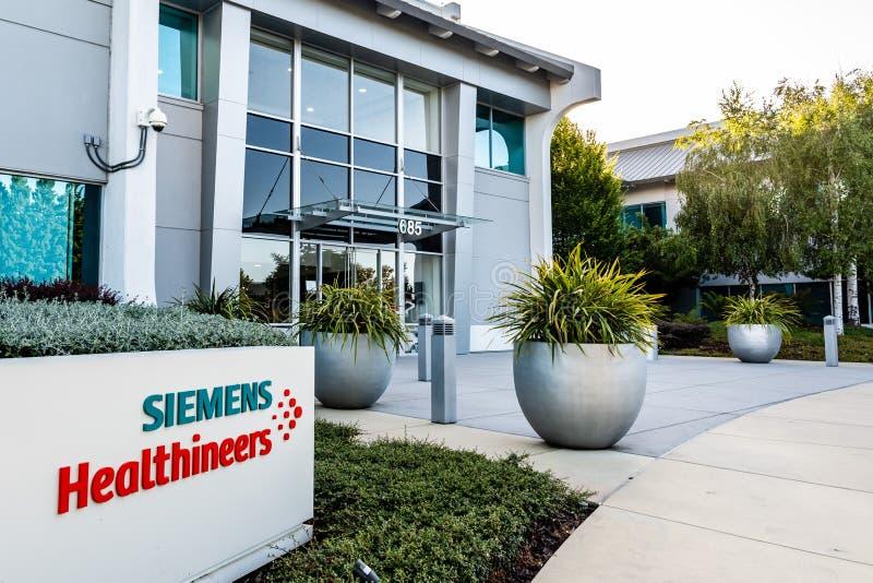 22 de junho de 2019 Mountain View/CA/EUA - cuidados médicos Healthineers AG anteriormente Siemens de Siemens, soluções médicas de imagem de stock royalty free