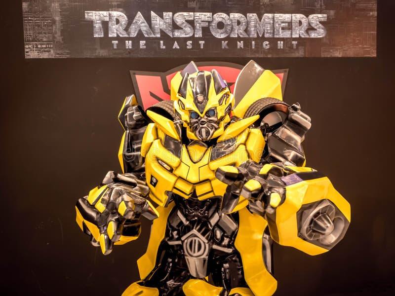 15 de junio de 2017: Abejorro de los transformadores: El caballero pasado Es el quinto plazo de la película de los transformadore imágenes de archivo libres de regalías
