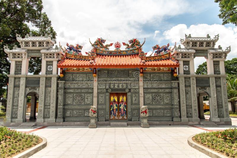 11 de junio, templo del Taoist en el cementerio chino de Manila, Manila, phi imagen de archivo libre de regalías