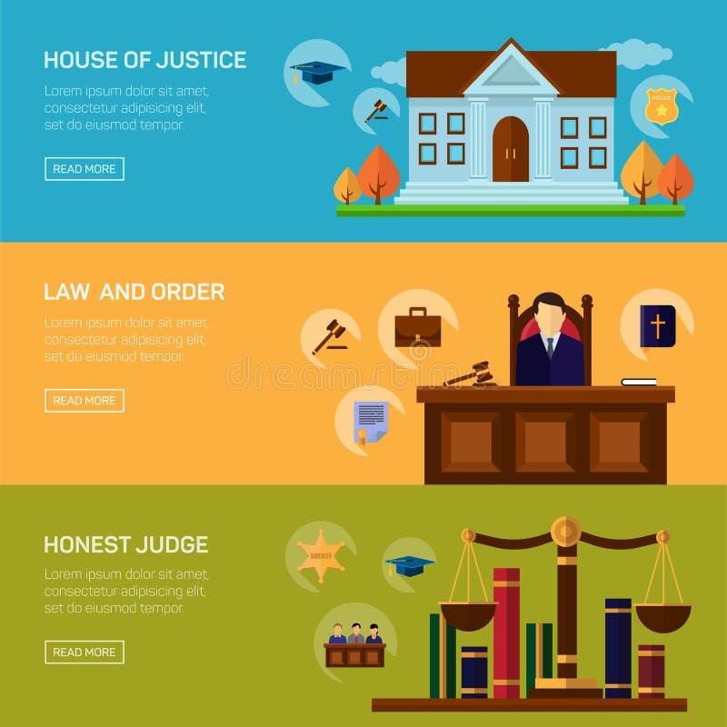 De juridische dienstenmisdaad en strafwet vector illustratie