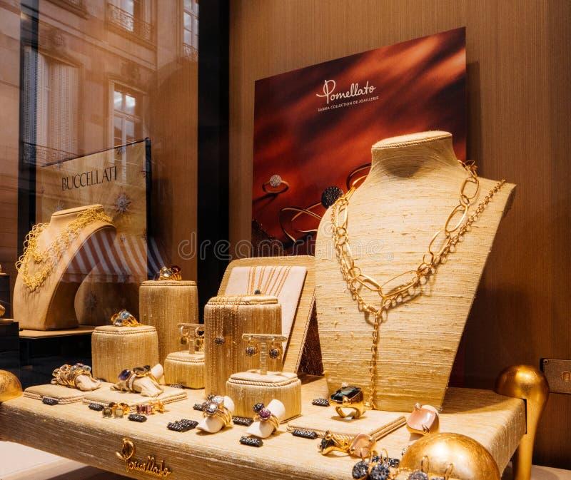 De juwelen van de Pomellatoluxe, ringen, eyewears, halsband voor verkoop royalty-vrije stock foto