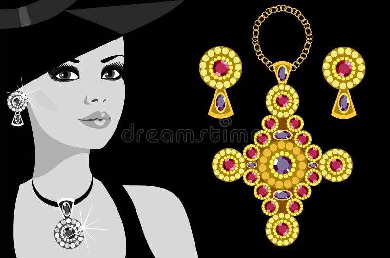 De juwelen van de reclame royalty-vrije illustratie