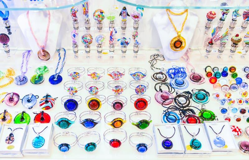 De juwelen van het Muranoglas royalty-vrije stock foto's