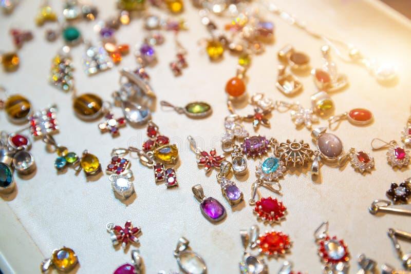 De juwelenclose-up van de gemsteen, Sri Lanka-schatten royalty-vrije stock foto