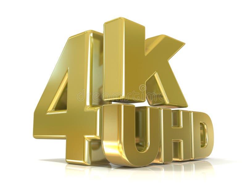 de 4K tecnología de la resolución ultra HD (alta definición) stock de ilustración