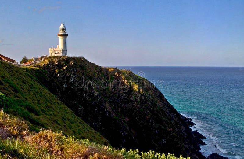 De Kaap Byron Lighthouse stock afbeeldingen