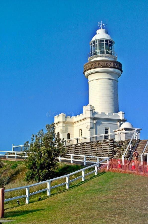 De Kaap Byron Lighthouse stock foto's
