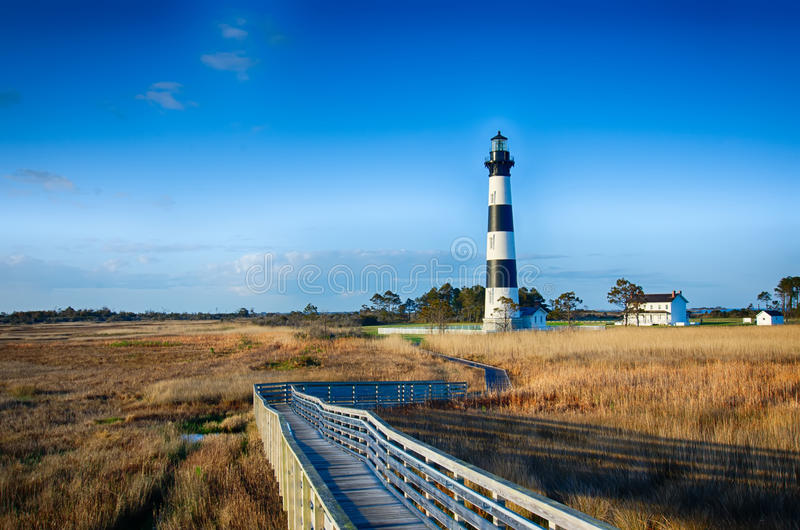De Kaap Hatteras van Bodie Island Lighthouse OBX stock foto's