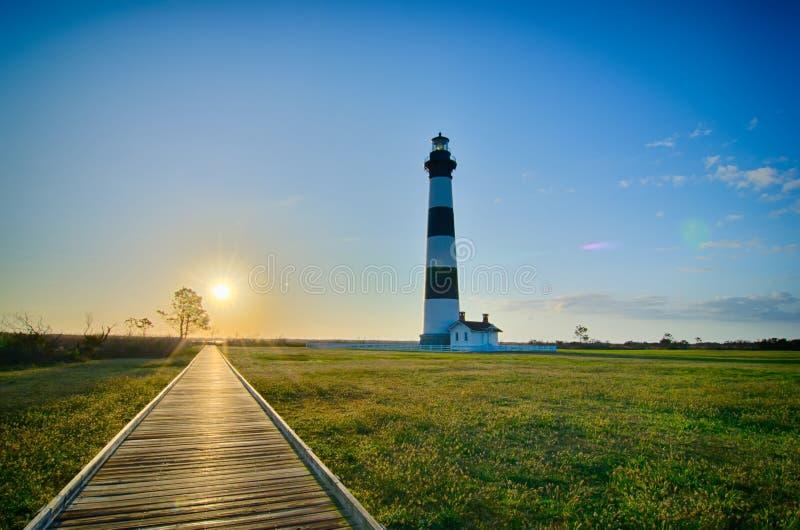 De Kaap Hatteras van Bodie Island Lighthouse OBX royalty-vrije stock foto's