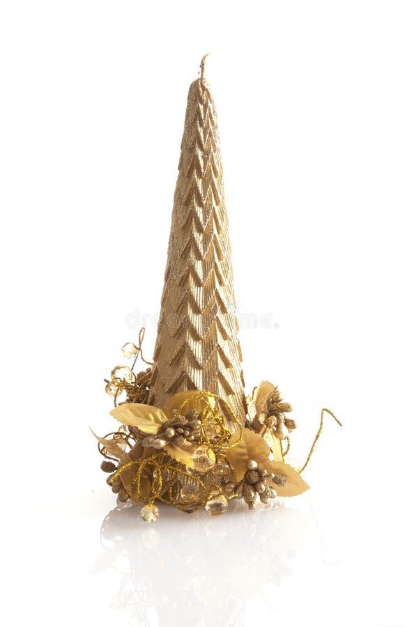 De kaars van de kerstboom royalty-vrije stock afbeelding