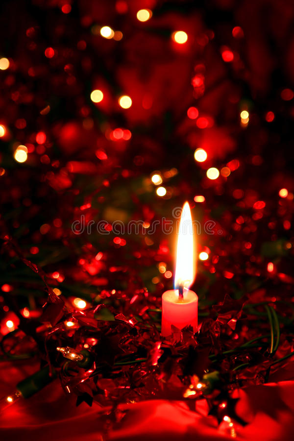 Download De Kaars van Kerstmis stock foto. Afbeelding bestaande uit kaars - 10827720
