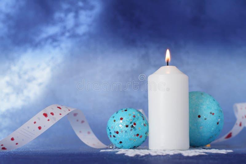 De kaars van Kerstmis. royalty-vrije stock foto's