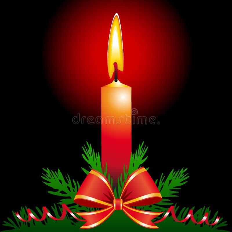 De kaars van Kerstmis royalty-vrije illustratie