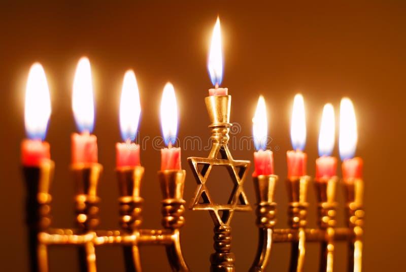 De Kaarsen van de Chanoeka royalty-vrije stock afbeeldingen