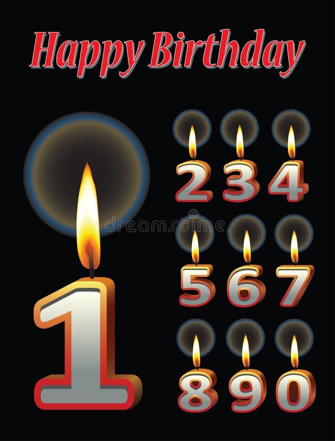 Download De Kaarsen Van De Verjaardag Stock Illustratie - Illustratie bestaande uit artistiek, pictogram: 29508954