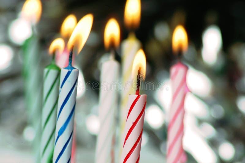 De kaarsen van de verjaardag