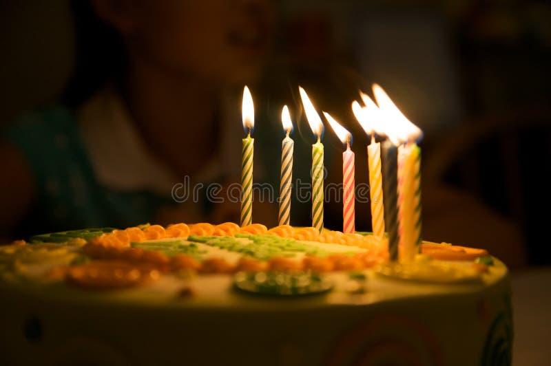 De kaarsen van de verjaardag royalty-vrije stock foto