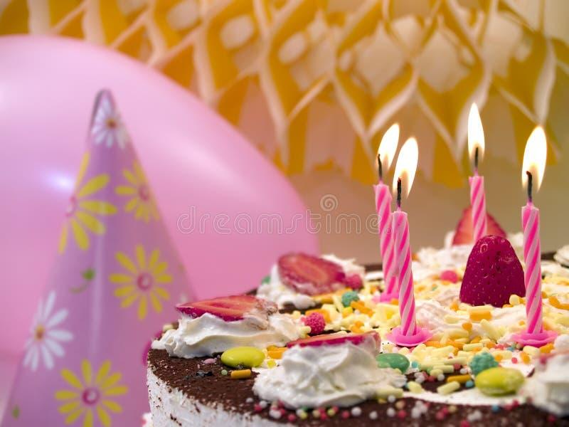 De kaarsen van de verjaardag royalty-vrije stock afbeeldingen