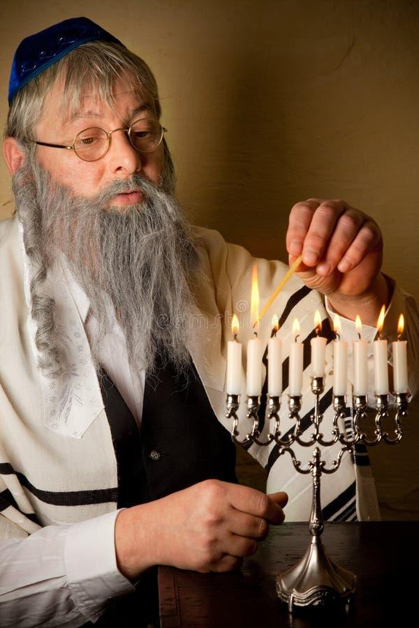 De kaarsen van Hannukah stock fotografie