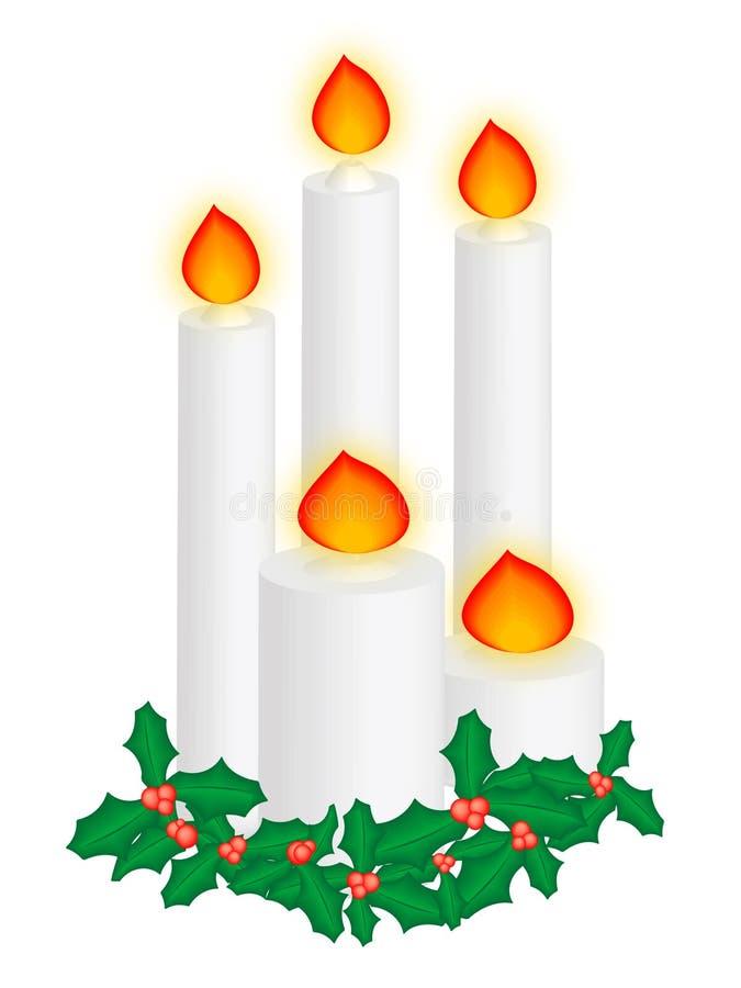 De kaarsen van Kerstmis stock illustratie