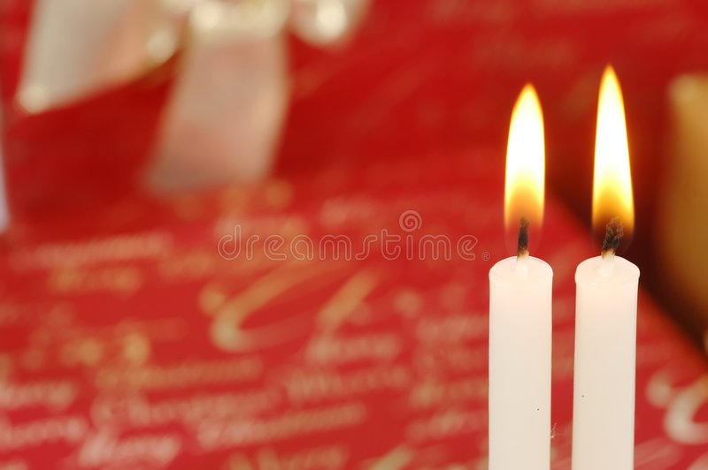 De Kaarsen van Kerstmis stock afbeeldingen
