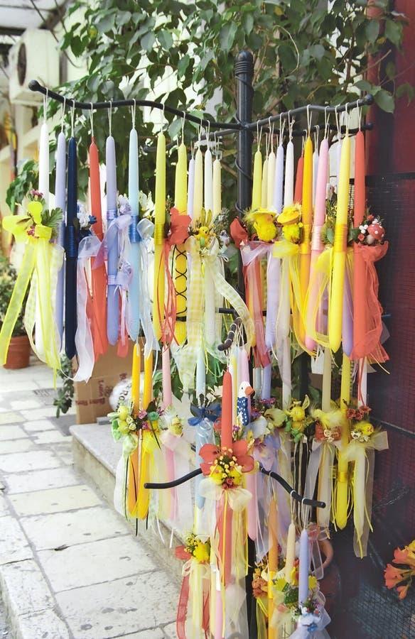 De kaarsen van Pasen voor verkoop stock foto's