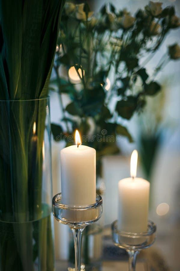 De kaarsen van de vakantie stock afbeeldingen