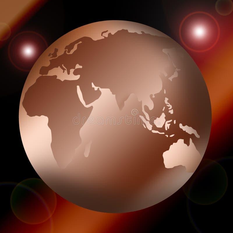 De kaart of de bol van de wereld royalty-vrije illustratie