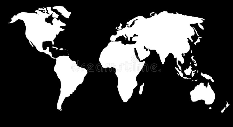 De kaart of de bol van de wereld vector illustratie