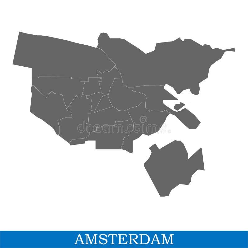 de kaart is een stad van Nederland vector illustratie