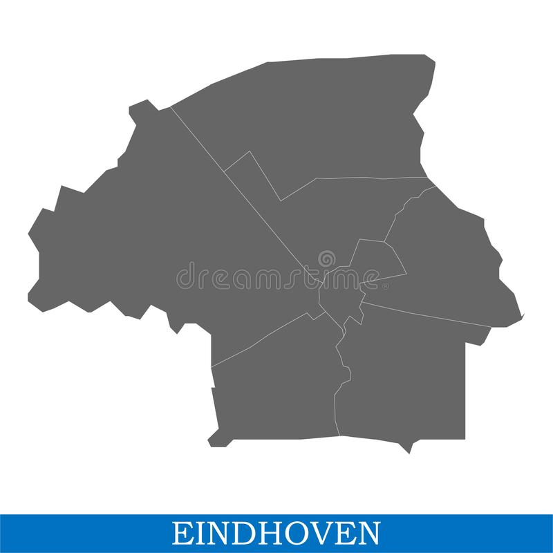 de kaart is een stad van Nederland stock illustratie