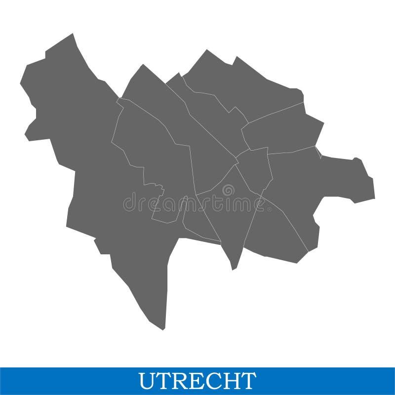 de kaart is een stad van Nederland royalty-vrije illustratie