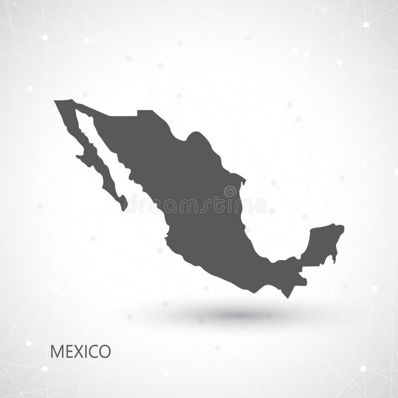 De Kaart en Communicatie van Mexico Achtergrondvector vector illustratie