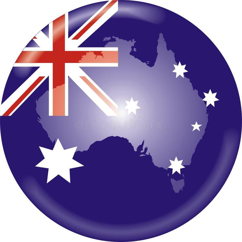 De kaart en de vlag van Australië royalty-vrije illustratie